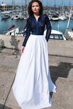 Dolg Pomlad Visoko zajeti Izvedba Elegantno Naravni pasu Prom Obleko