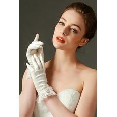 Poroka Rokavice poln Finger Lace Slonokoščena Kratek moda pomlad