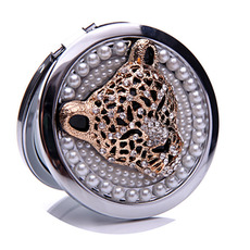 Krog Intarzijski diamant dan Poročna Metal Folding Comb