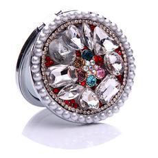 Luksuzna krog Intarzijski diamant Folding Cartoon Majhno ogledalo