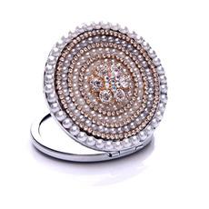 Top razred Krog Cross kovine z vložkom diamant Oglasi Mali ogledalo
