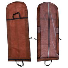 Brown z dvojno rabo prenosni obleka prah torba zložljiva pokrov poroka prahu