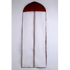 155 cm enostranski transparent vijolična poročna obleka vrečka za prah