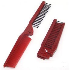 Les zrna Red Folding Multifunkcijski Prenosni Majhna ogledalo in glavnik