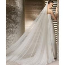 Nevesta poročno obleko tanko prejo tanko 3 metrov dolg in dva sloja mehko tančico