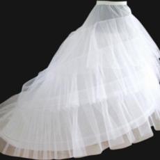 Poroka Petticoat Elastičen pas Širina dve platišča Flouncing poročna obleka
