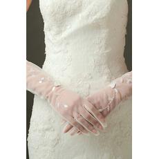 Seksi prosojna Sexy Poroka Rokavice Long Shade poln prst