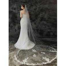 3M poročna tančica enoslojna z glavnikom za lase in nežno čipkasto tančico
