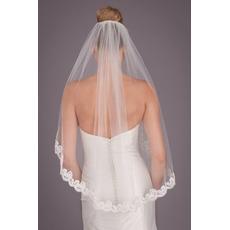 Enoslojna čipkasta tančica 1,5 metra kratka poročna tančica poročni dodatki