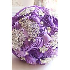 Purple diamant biserno poroko poročna dekoracijo ustvarjalni držala za rože