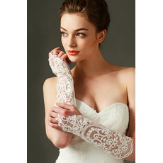 Ivory Poroka Rokavice Lace Fabric dekoracija prosojna Fall