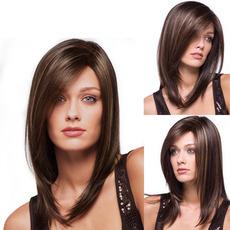 Perruque 40-45 cm ravne Poševna Šiška Long ravno primeren za ženske