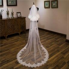 Dolga poročna tančica s čipko z bleščicami, zadnja tančica 3M dolga kovinska tančica iz glavnika