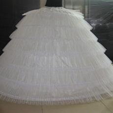 Poroka Petticoat Poročna obleka Long Šest platišča Vintage Elastičen pas