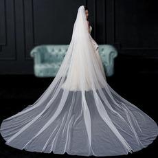 Nevesta vlečna tančica preprosta tančica poročne fotografije dolga tančica poročni dodatki