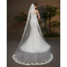 Enoplastna tančica s čipkasto poročno tančico s poročnimi dodatki za glavnik za lase