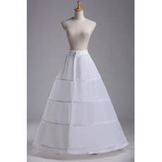 Poroka Petticoat Standardna štiri platišča Nastavljiva Modna poliester taffeta