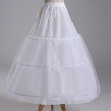 Poroka Petticoat Tri platišča Močan Čisti Popolna obleka String Nastavljiv