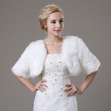 Poroka šal Glamour s kratkimi rokavi Shore rokavi Loose Fur