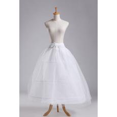 Poroka Petticoat Tri platišča močna neto Polni Dress dva svežnjev