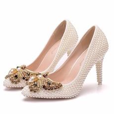 9CM biserni lok visoke pete stiletto pointe čevlji za zabave