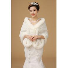 Button zimski dvorana Super dolgo debela slonovine poroko šal