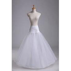 Poroka Petticoat Spandex Standardna Long enotni platišča Elastični pas