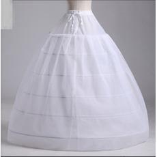 Poroka Petticoat Dva združuje Močan Čisti poročno obleko Long Six platišča