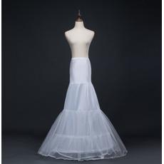 Poroka Petticoat Long Mermaid Dvojna preje Spandex Korzet poročna obleka