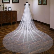 Poročna sijoča tančica poročna tančica izredno dolgega repa bela tančica