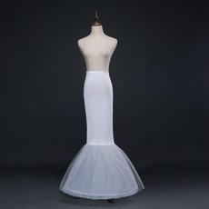 Poroka Petticoat brez okvirja Mermaid Spandex Elastičen pas poln obleka