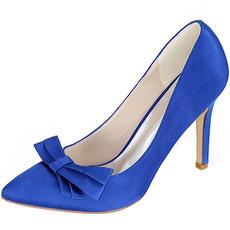 Satenski lok s poročnimi čevlji s stiletto petami