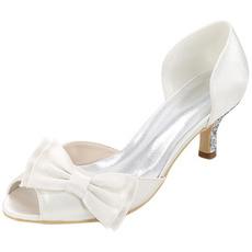 Poročni čevlji plus velikosti enojnih čevljev satenaste sandale za zabave