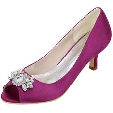 Visoka peta nosorogovo ribe ustje čevlji modni saten banket čevlji poročni čevlji