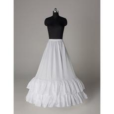 Poroka Petticoat Elegantna poročna obleka Elastičen pas poliester taft