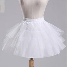 Poroka Petticoat balet krilo Kratek Dvojni preje Elastičen pas