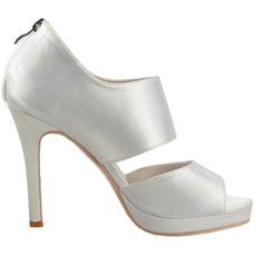 Seksi satenski modni čevlji z visokimi petami na odprtem nogah