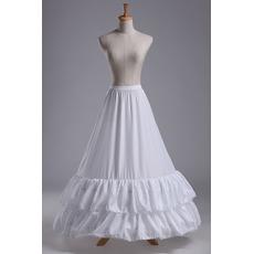 Poroka Petticoat Lace obrezovanje poročna obleka z dolgimi poliester taft
