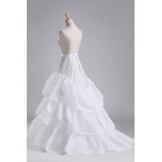 Poroka Petticoat Tri platišča Popolna obleka Premer Eleganten poliester taffeta
