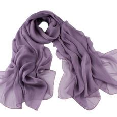 Šal Pure color Širina navaden Podeželje Real svila ženske
