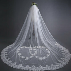 Čipkasta poročna tančica nevesta zadnja tančica 3 metre dolga poročna dodatna oprema, tovarna na debelo
