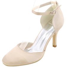Poročni čevlji z visokimi petami z blok peto