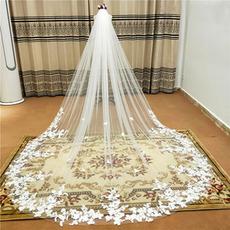 300CM čipke tančica nevesta poroka tančica katedrala končni tančica čipke cvet tančico