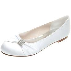 Ravni čevlji iz satena poročni čevlji za materinstvo poročni plus velikosti ravni čevlji