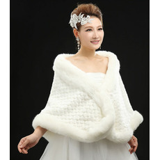 Poroka šal Eleganten Zima rokavov Fur prostem
