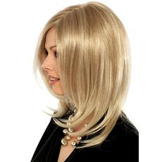 Perruque hrušk Primeren za ženske normalna temperatura materiala dolgimi kodrasti