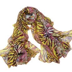Šal Poletne Real svile rese tiskanje Purple Zelo dolgo