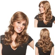 Perruque Primerno za ženske Poševna Šiška Long Curly Billow Kanekalon materiala