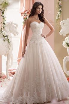 Dolg Aplicirano Ljubica Padel pasu Elegantno Zadrgo navzgor Poroka Obleko