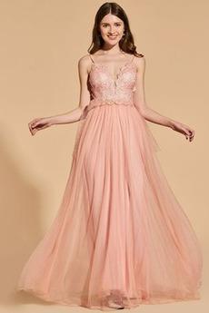 Brez zadnjega dela Naravni pasu Elegantna Maturantske obleko